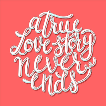 Cute wedding lettering