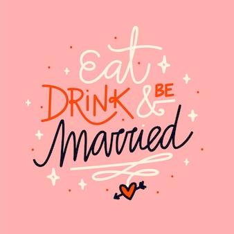 Cute wedding lettering