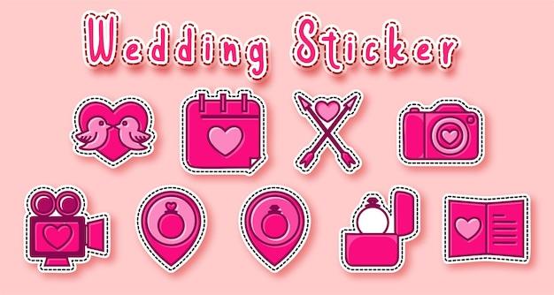 Cute wedding sticker