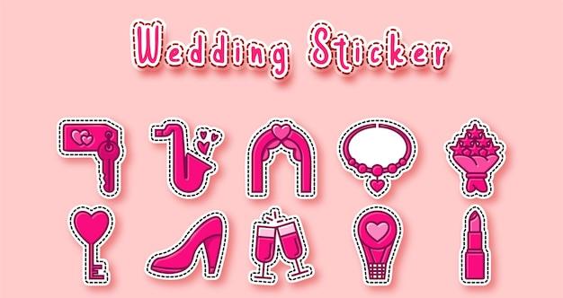 Симпатичная свадебная наклейка