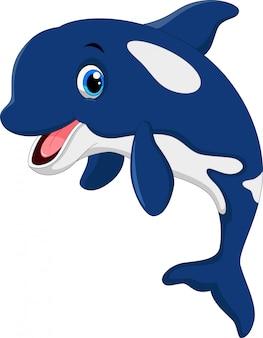 Милый мультфильм кита