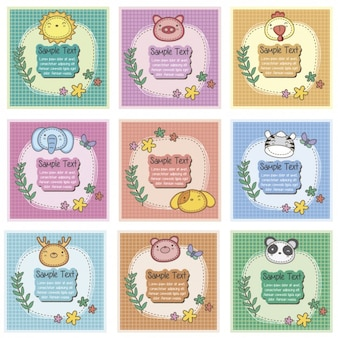 Cute wild animals cards