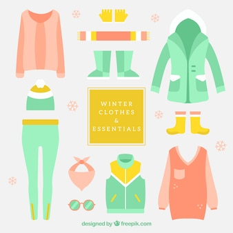 Cute winter clothes pack with accessories