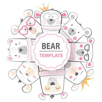 Cute winter illustration