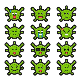 Cute witch character fight against virus cartoon vector icon illustration. design isolated on white. flat cartoon style.