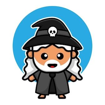 Cute witch design cartoon illustration