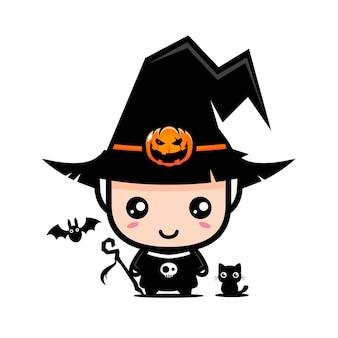 Cute wizard character  design