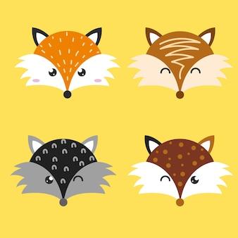 귀여운 늑대 스칸디나비아 디자인