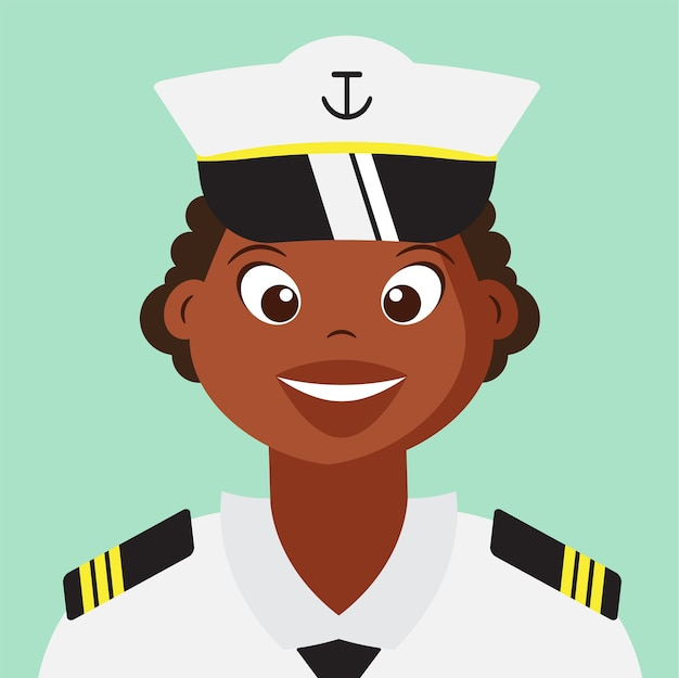 Cute woman naval with navy uniform