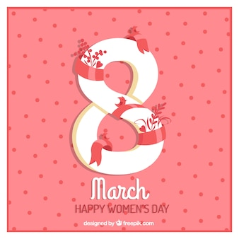 Cute women's day dots background