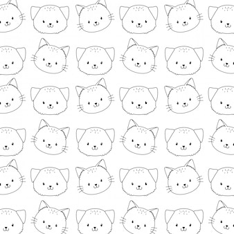 Cute woodland animals characters seamless pattern wallpaper