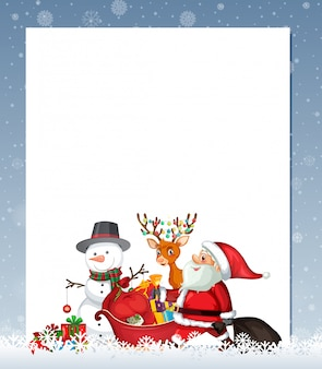 Cute xmas border template
