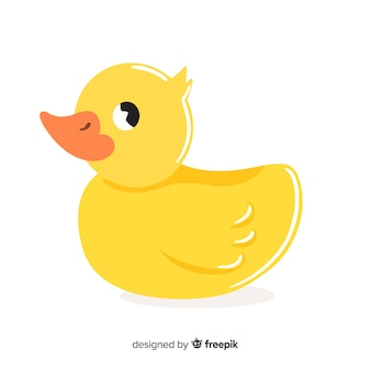 Cute yellow rubber duck