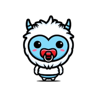 귀여운 설인 아기 캐릭터 디자인