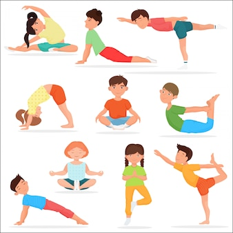 Cute yoga kids set