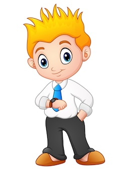 Cute young businessman