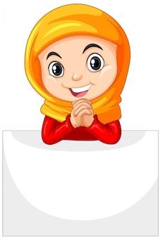 Cute young girl cartoon character
