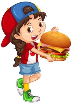 Симпатичная молодая девушка мультипликационный персонаж
