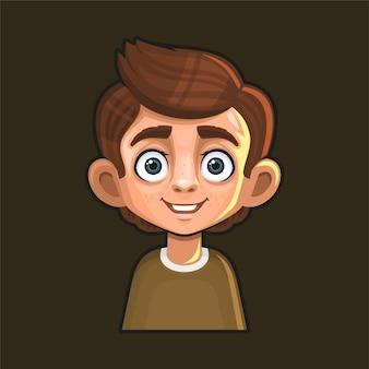 귀여운 젊은 남자 아바타 캐릭터.