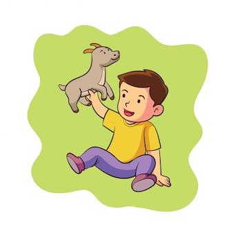 A cute zodiac capricorn character