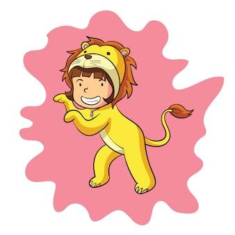 A cute zodiac leo character