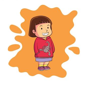 A cute zodiac scorpio character