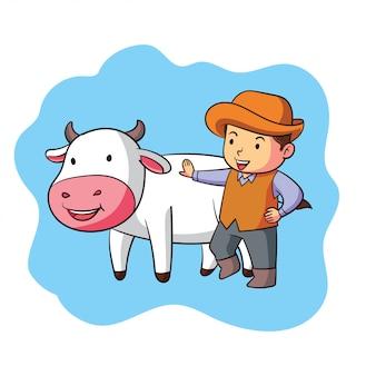 A cute zodiac taurus character
