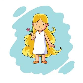A cute zodiac virgo character