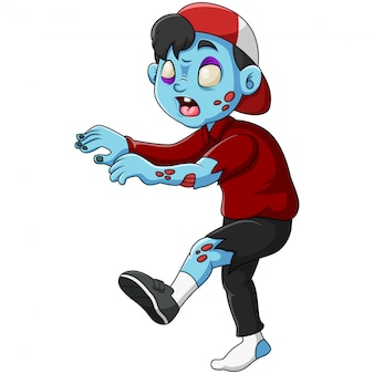 Милый зомби стоит и гуляет