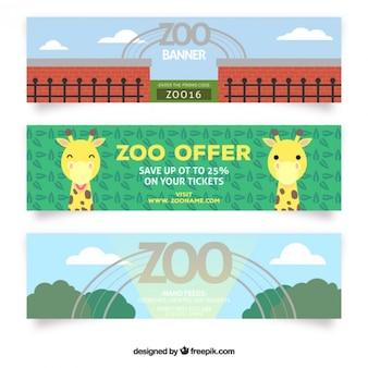 かわいい動物園のオファーバナー