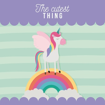 The cutest thing poster with unicorn