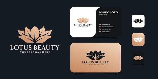 Дизайн логотипа вилки и ложки столовых приборов с шаблоном визитной карточки.
