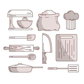 Cutlery and kitchen accessories sketches