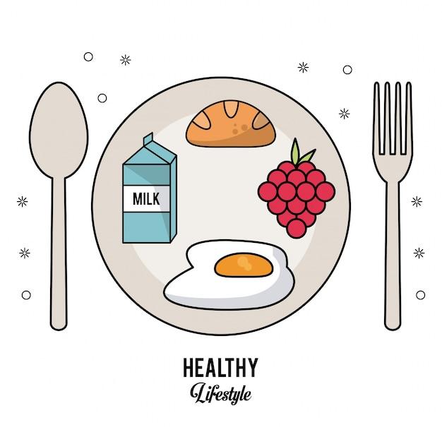 ミルクボックスパンの卵とブドウの揚げ物カトラリーセットディッシュ