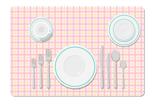 Cutlery on the table, table setting.