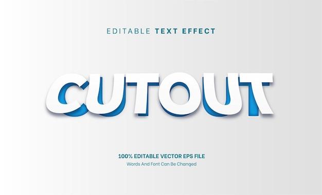 Вырезанный текстовый эффект редактируемый стиль шрифта вырезать из бумаги тиснение