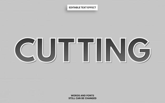 Cutting font effect