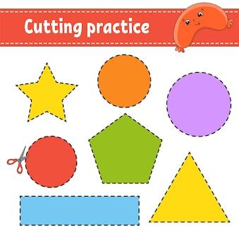 어린이 e를위한 절단 연습
