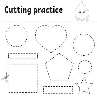 아이들을위한 절단 연습