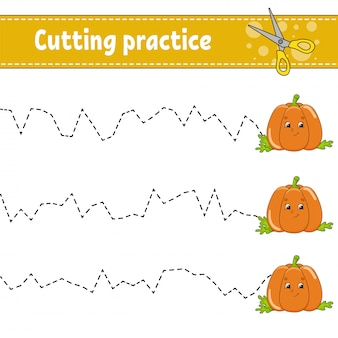 Cutting practice for kids