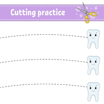 Cutting practice for kids.