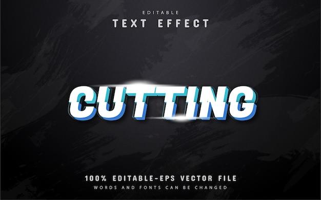 Вырезание текстового эффекта дизайна