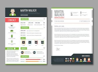 CV layout template