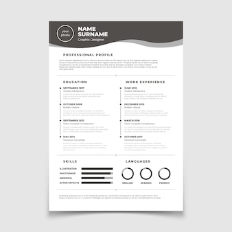 Cv resume. document for employment interview.