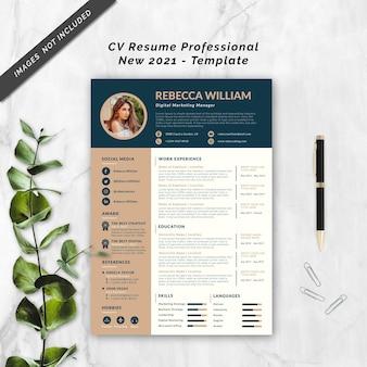 Cv resume professional new 2021 template
