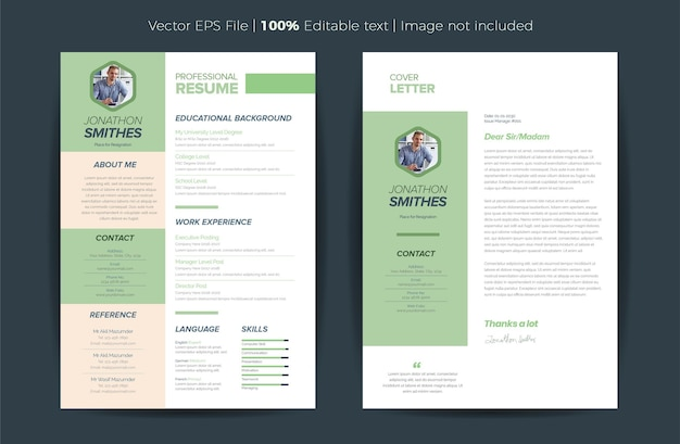 Cv resume template design personal details for job application