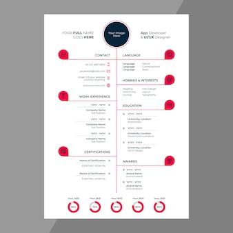 Дизайн cv / resume с иконками в строке