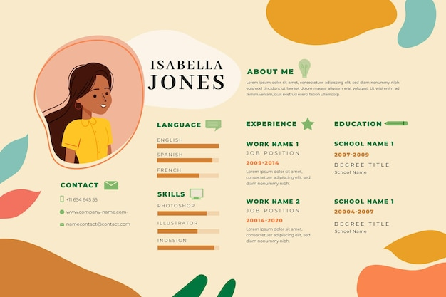 Cv template online design