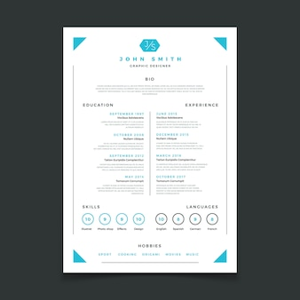 Cv template. professional resume design with business details. curriculum and best work resume vector mockup