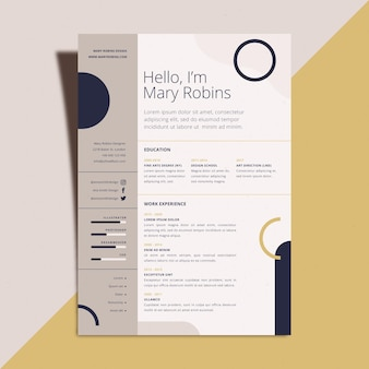 Cv template style